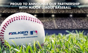Falken Tires has branched out with a sponsorship of Major League Baseball to widen its target market. Credit : Falken