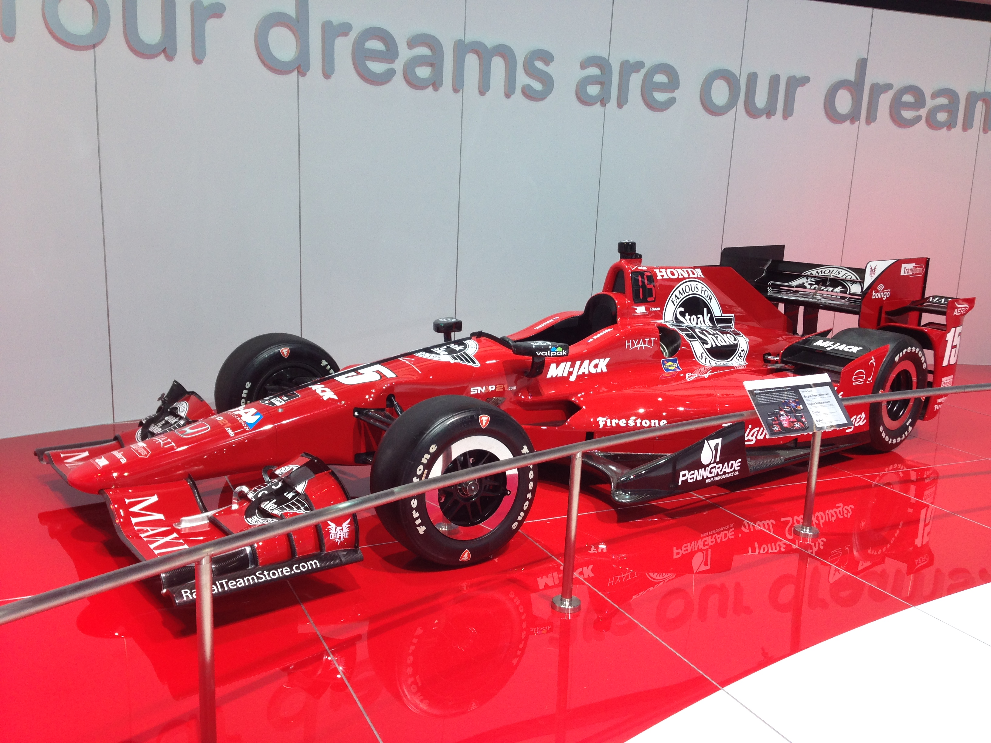 2015 Rahal Dallara Honda Indy Car. Tires Firestone