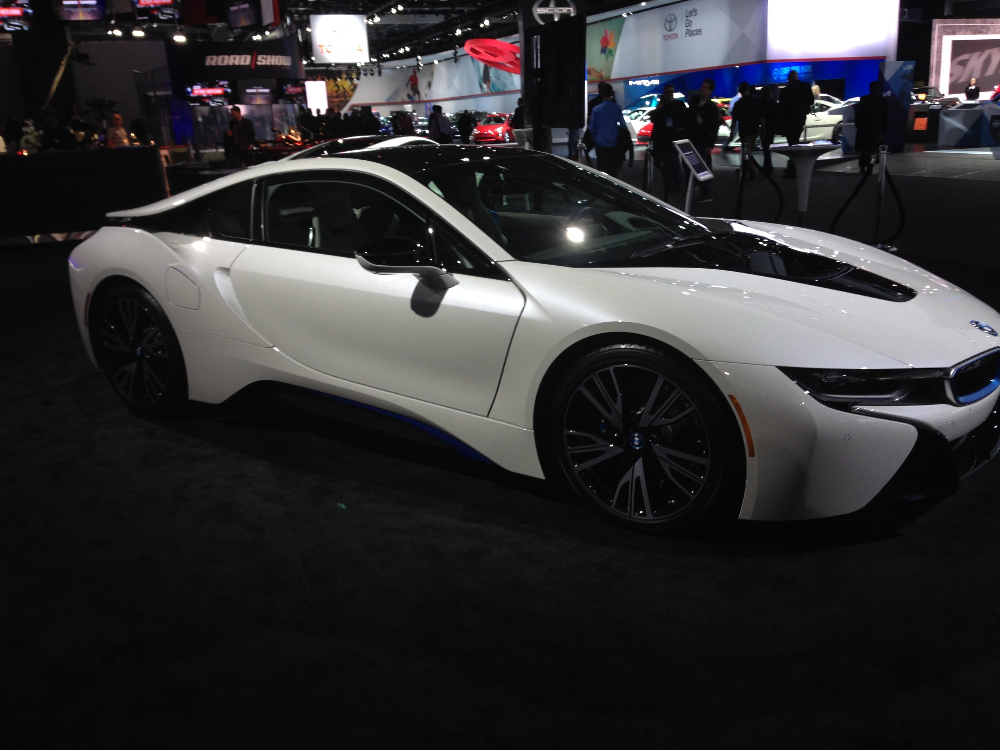 BMW i8. Hybrid electric car. 357hp. Tires Bridgestone Potenza