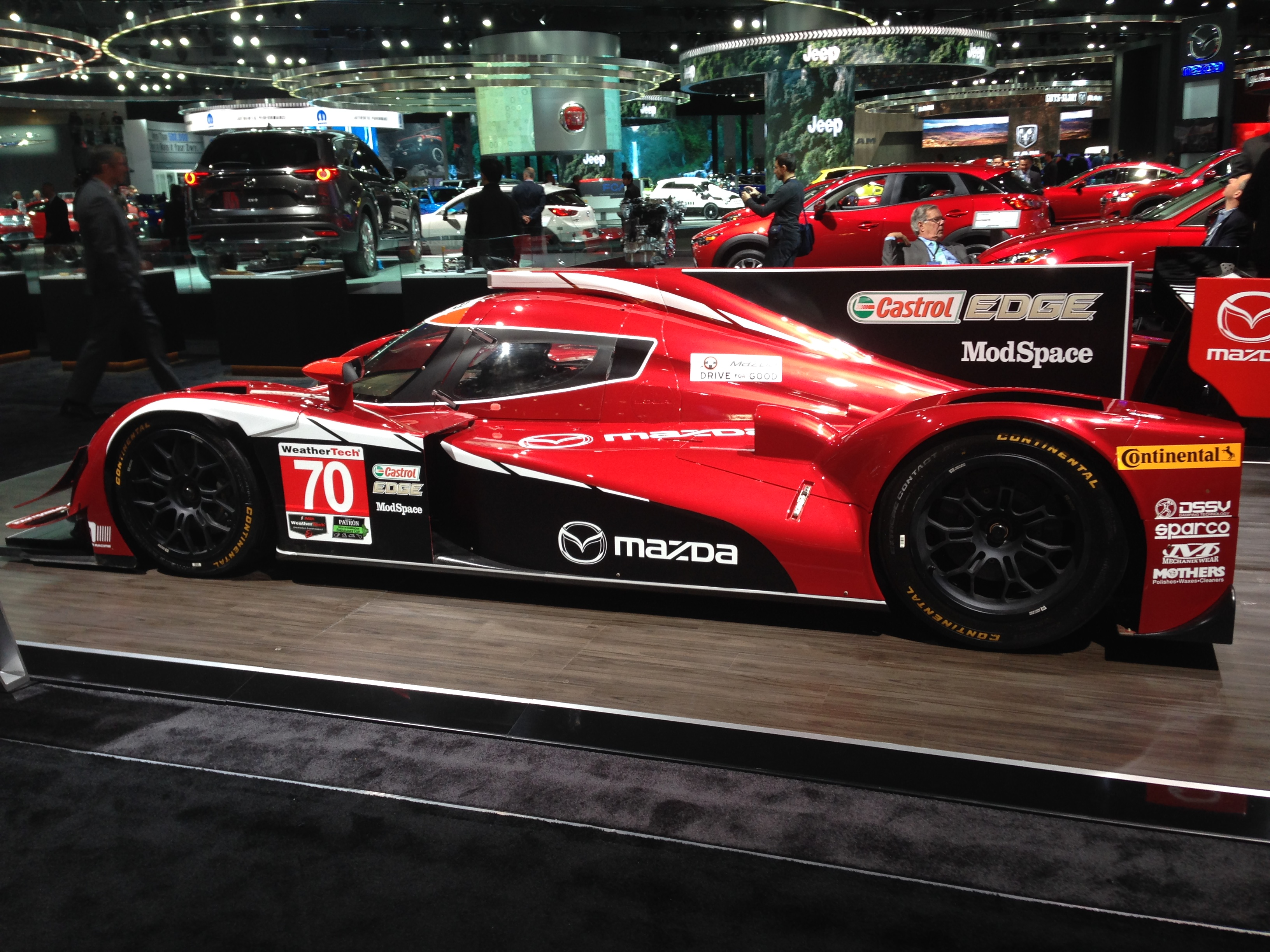 Mazda MZ-2 prototype. 2L, 570hp. Tires Continental Extreme Contact DR