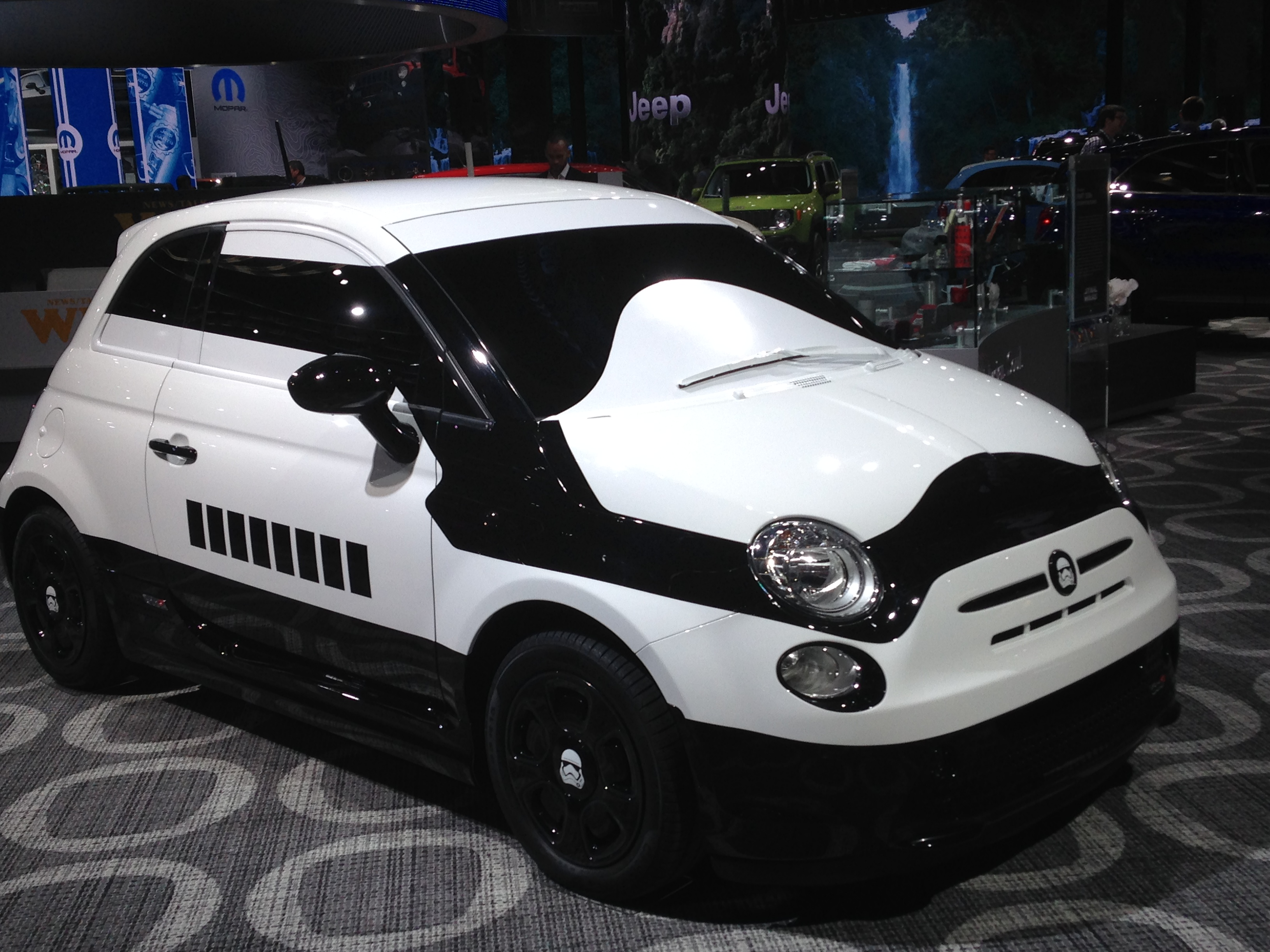 One for the Star Wars fans. Concept FIAT 500e Stormtrooper