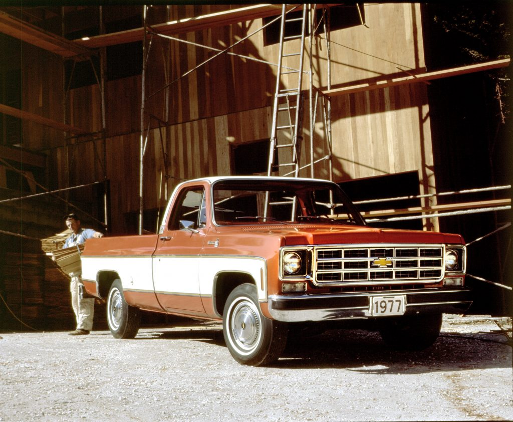 1977 Chevy C-10 SIlverado Fleetside CX2666-0303 Photo Credit General Motors