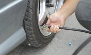 Inflate tires and check Pressure of tires
