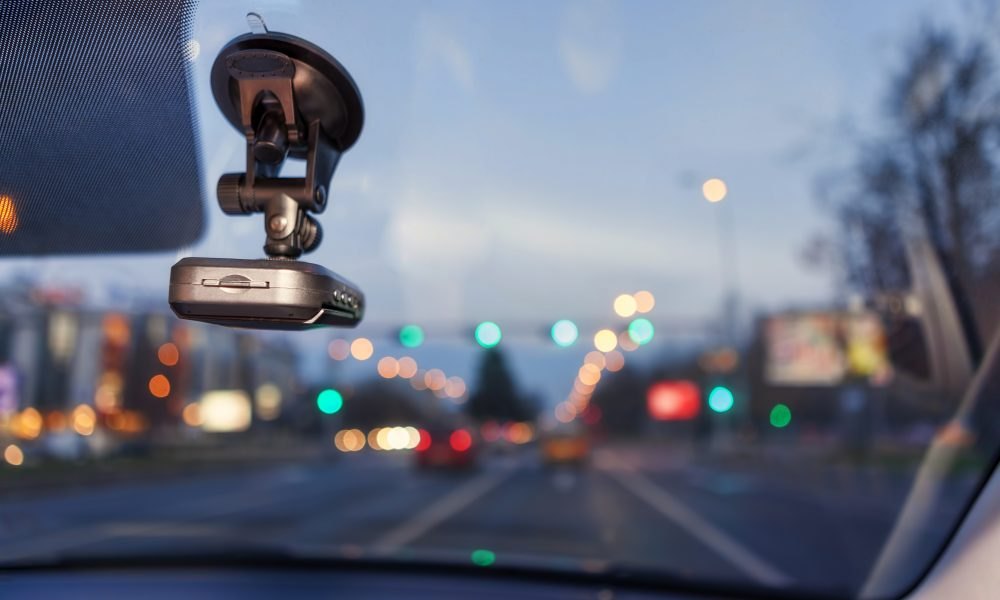 Mounted camera and data recorder for car with  GPS