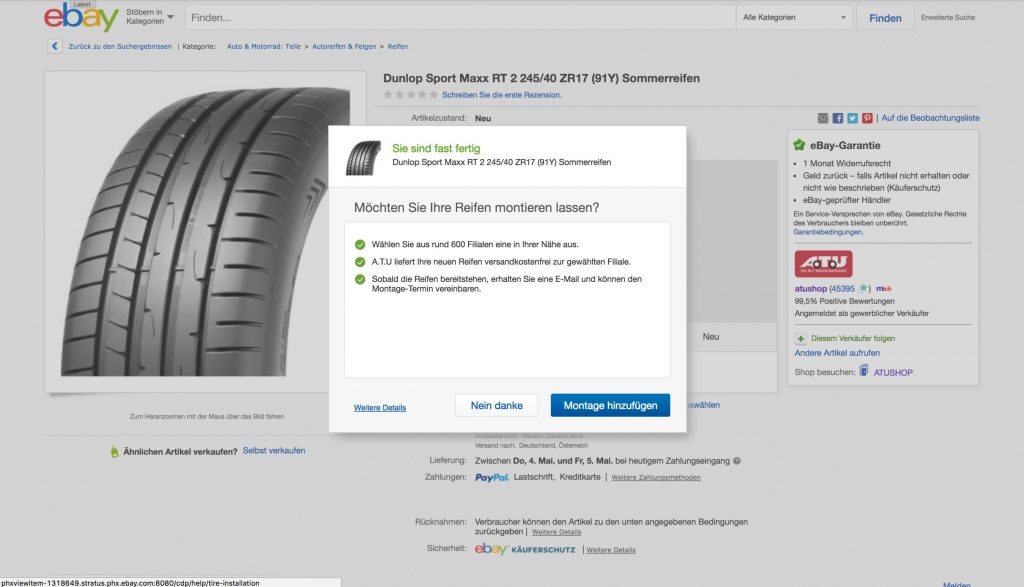 eBay Motors announces tire installation services in Germany this month; coming to the U.S. this summer. (PRNewsfoto/eBay Motors)