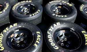 HAMPTON, GA - MARCH 03:  A detailed view of the Goodyear tires during practice for the NASCAR XFINITY Series Rinnai 250 at Atlanta Motor Speedway on March 3, 2017 in Hampton, Georgia.  (Photo by Brian Lawdermilk/Getty Images)