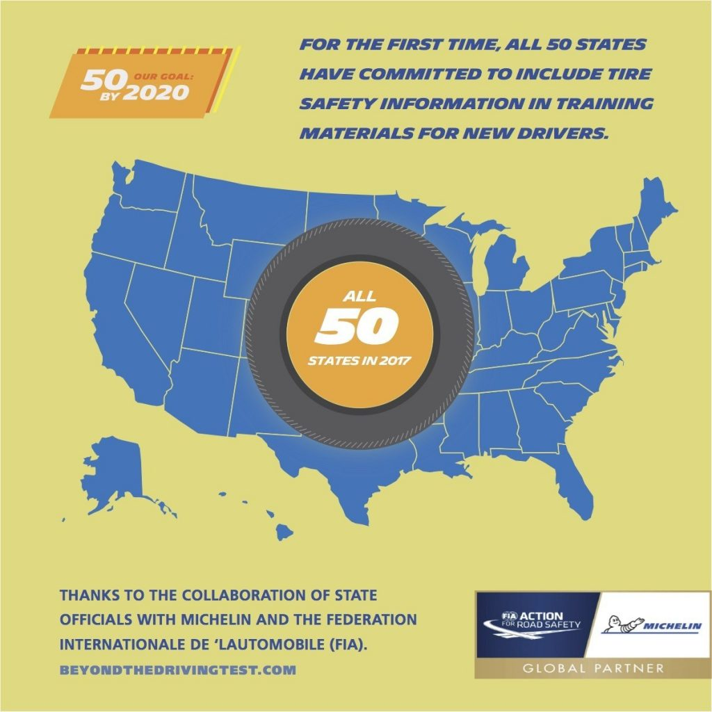 Michelin, FIA Improve Tire-Safety Education For New Drivers In All 50 States (PRNewsfoto/Michelin North America, Inc.)