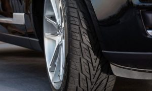 New Toyo Proxes ST III. The perfect balance of dynamic looks and sport-oriented performance. With a wider tread and a new silica-based tread compound the Proxes ST III stops up to 6 feet shorter in wet conditions while delivering superb handling, excellent all-season performance, consistent wear and a smooth, quiet ride now backed by a 40,000-mile warranty. See your dealer or toyotires.com for details. (PRNewsfoto/Toyo Tire U.S.A. Corp.)