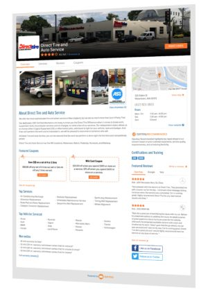 Direct Tire and Auto Service via Openbay, Select and Book auto repair and maintenance services online - Quickly, easily and with confidence