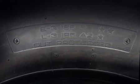 Yokohama dual marked tire-E2L1