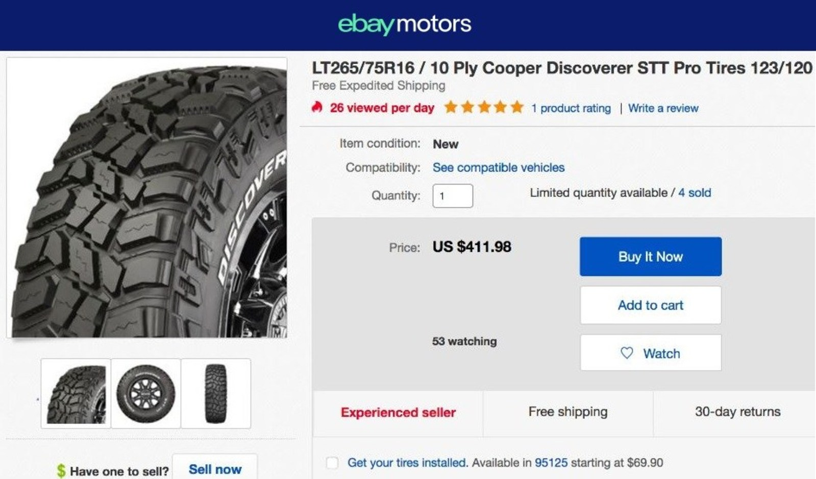 eBay Motors continues to innovate its shopping experience by introducing Virtual Tech and tire installations in the U.S. (PRNewsfoto/eBay Motors)