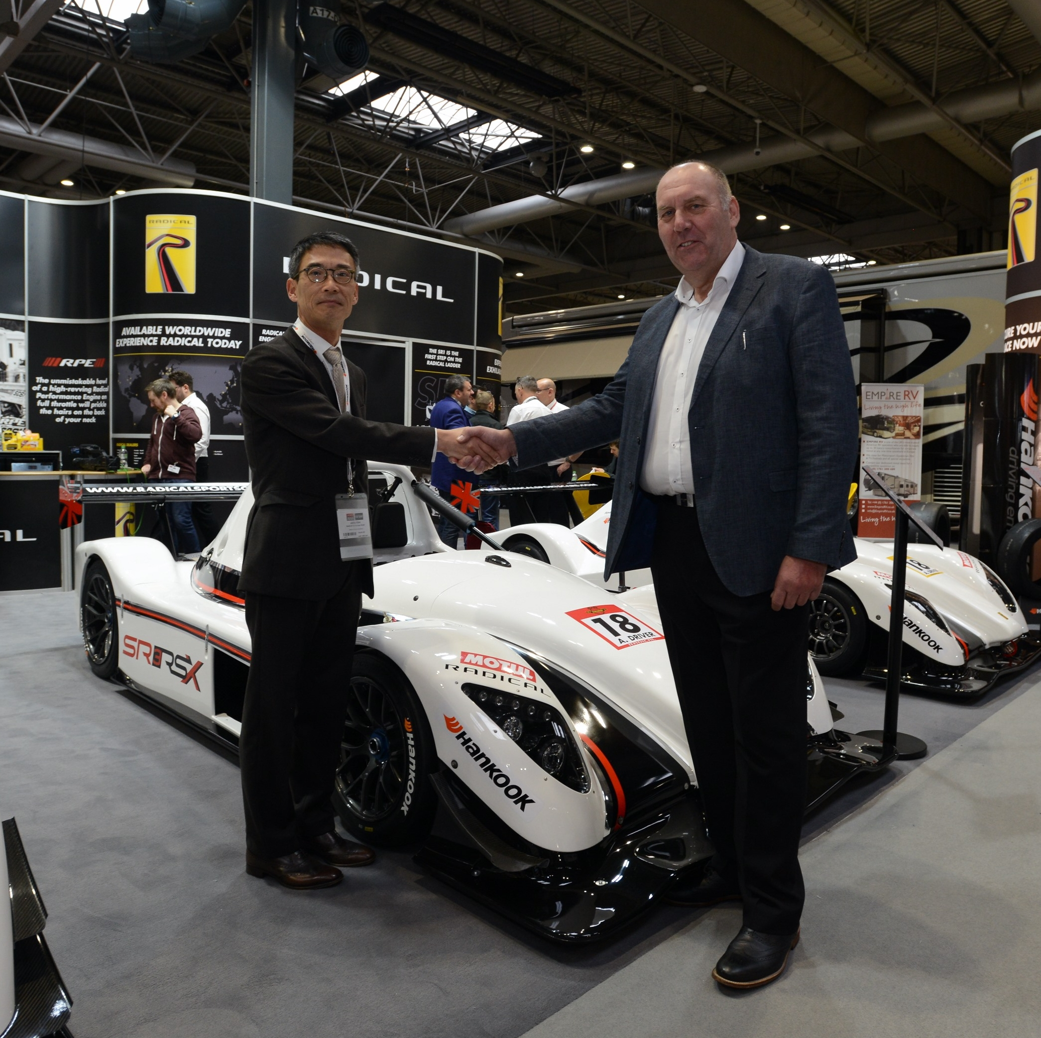 Young Soo Kim, Team Manager Hankook Tire Motorsport Team Europe and Joseph Anwyll, Radical CEO.