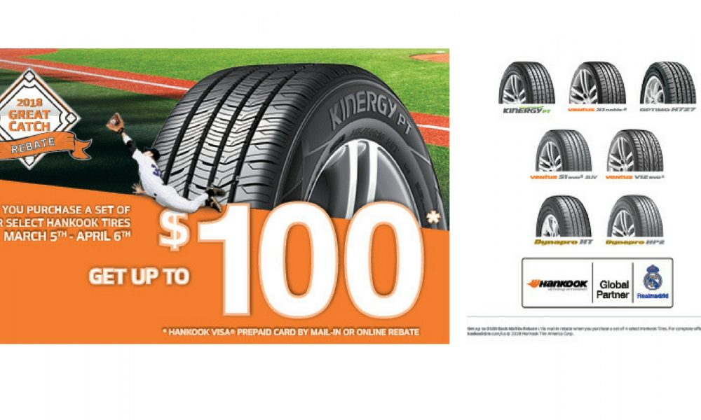 Hankook Tire To Offer Up 100 Rebate With 2018 Great Catch Promotion