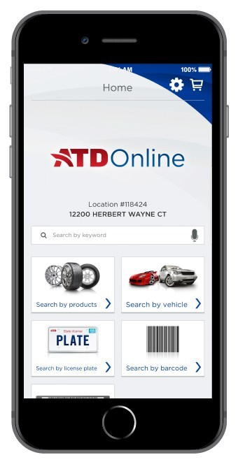 ATD Mobile Navigation (PRNewsfoto/American Tire Distributors)