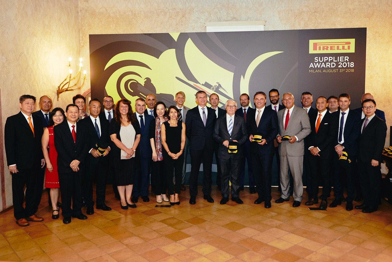 Pirelli Supplier Award press release 2