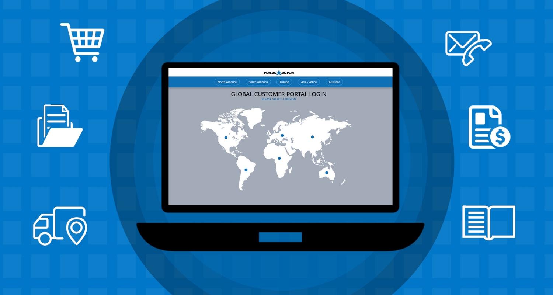 maxam tire customer portal header