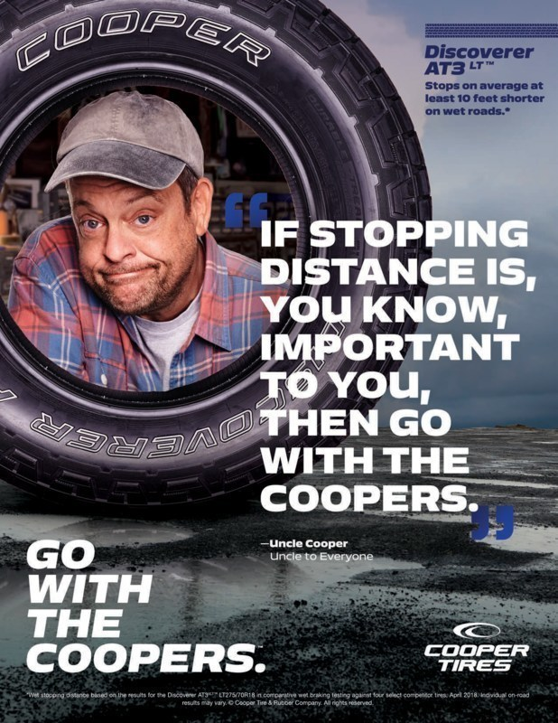 New Cooper Tire national print ad
