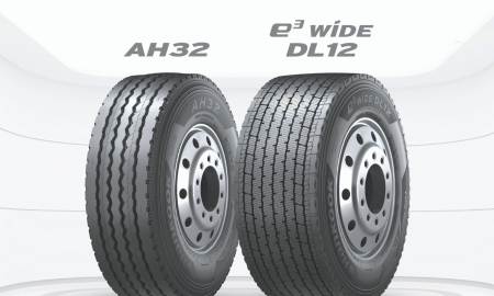 Hankook TBR tire header AH32 E wide DL12