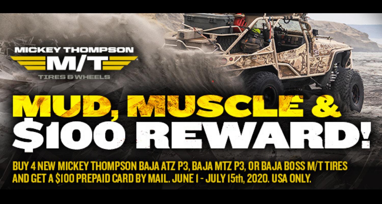 Mickey Thompson summer rewards program header