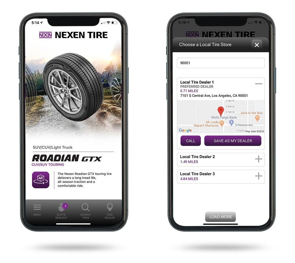 Nexen Tire America Mobile App